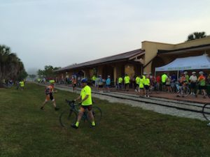 Venice Train Depot was filled with morning bikers