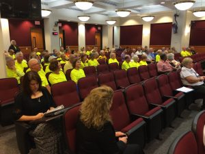 FLT supporters listen to the discussion on extending The Legacy Train