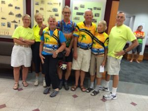 FLT and Coastal Cruisers Bike Club members joined forces to support the trail extension
