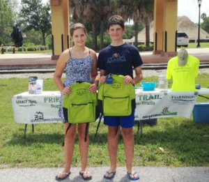 Olivia Vidolin and Jack Vidolin, two of the Backpack winners.
