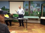 Larry Mau of Cardo TBE explains The Legacy Trail Extension Study at a FLT mtg