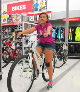 Emily Ek was the winner of the bicycle for the June Challenge