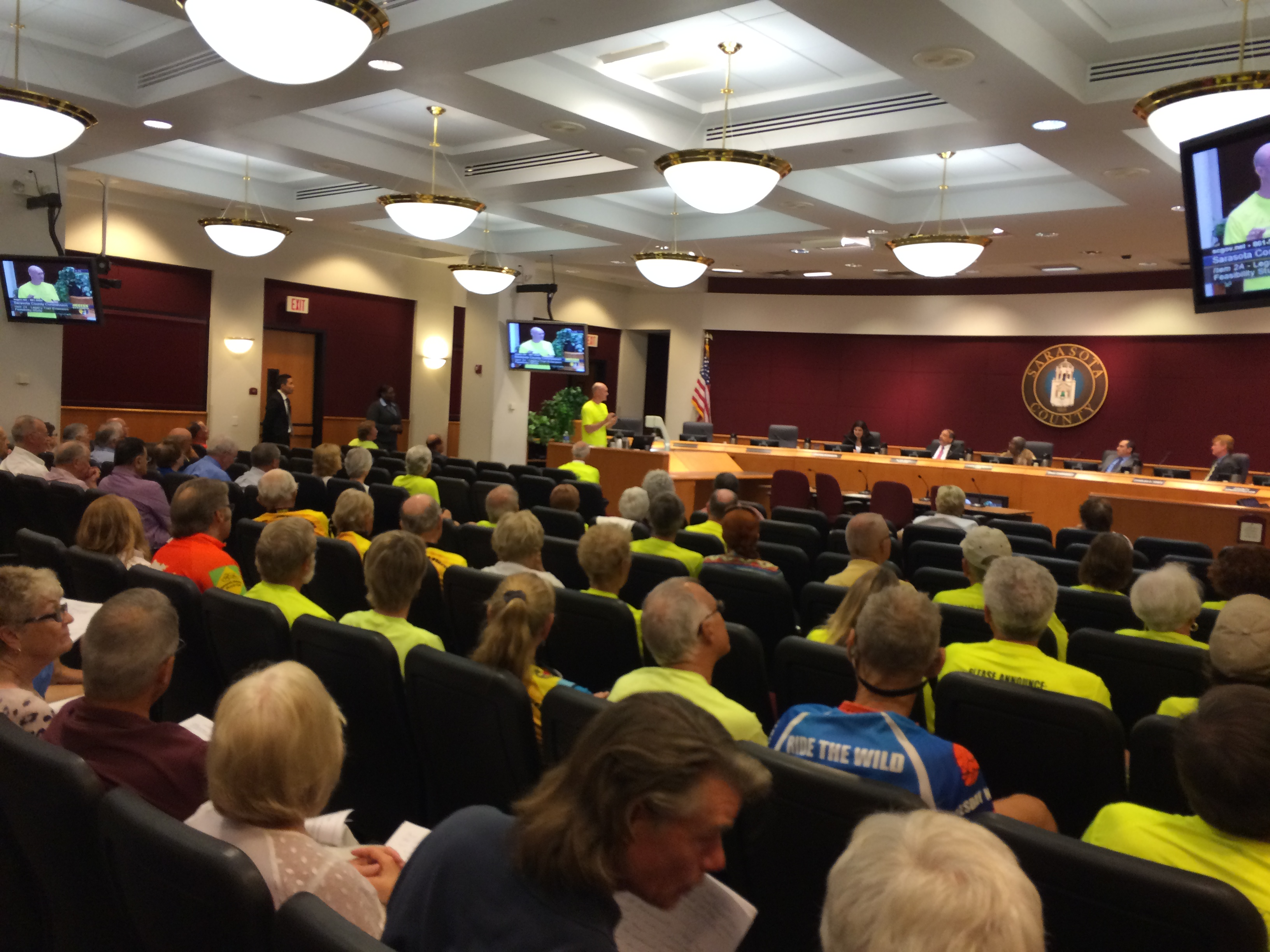Sarasota County Commissioners strongly endorse plans to extend The Legacy Trail into downtown Sarasota at their April 2015 meeting.