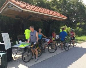 The Saturday Info Table at Central Sarasota Parkway.