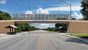 Rendering of Proposed Bridge over Laurel Road